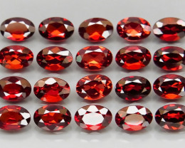 11.10 ct. Natural Earth Mined Red Rhodolite Garnet Africa - 20 Pcs