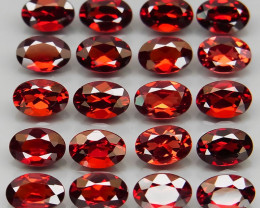 10.74 ct. Natural Earth Mined Red Rhodolite Garnet Africa - 20 Pcs