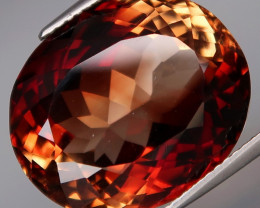 25.31 ct. Natural Earth Mined Topaz Orangey Brown Brazil