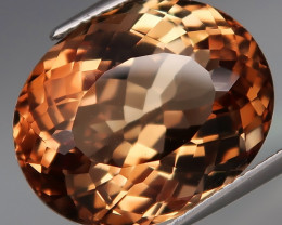 21.21 ct. Natural Earth Mined Topaz Orangey Brown Brazil