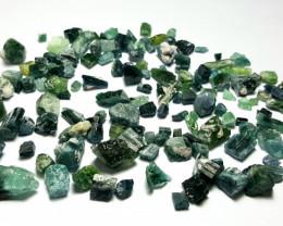 Amazing Natural indicolite color rough Tourmaline parcel 250Cts # N-4