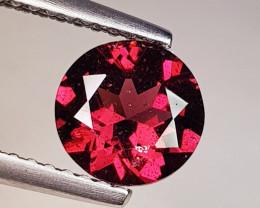 1.40 ct Top Quality Gem Round Cut Natural Purple Pink Rhodolite Garnet