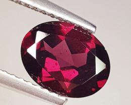 2.03 ct Top Quality Gem Oval Cut Natural Purple Pink Rhodolite Garnet