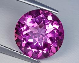 8.04 ct  Breathtaking Gem Stunning Round Cut Natural Pink Topaz