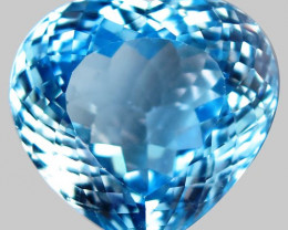 33.02  ct. 100 % Natural Swiss Blue Topaz Top Quality Gemstone Brazil