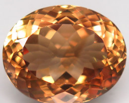 19.28 ct. 100% Natural Earth Mined Topaz Orangey Brown Brazil