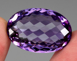 35.71 Ct. Top Quality 100%    Natural Rich Purple Amethyst Uruguay  Unheate