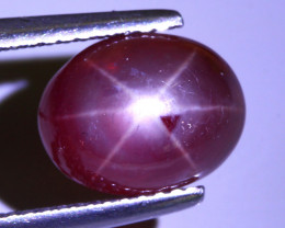 5.21 Ct - 10 x 8 mm 100% Natural Stunning Sharp 6 Rays Red Star Ruby Africa