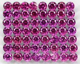 7.86ct. 56pcs 3mm 100% Natural Neon Purple Rhodolite Garnet Malawi