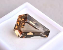 13.50 Carat Fancy Kite Shaped Smoky Quartz