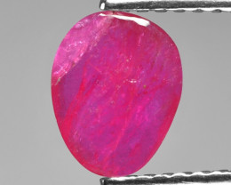 0.76 Cts Rose Cut Pinkish Red Ruby Natural Loose Gemstone