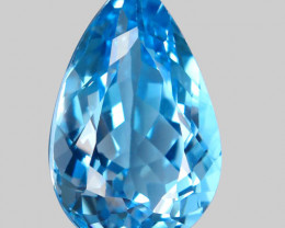 34.65 ct.  Natural Top Quality Sky Blue Topaz Brazil  - IGE Сertified