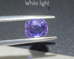 1.4ct unheated  purple blue sapphire