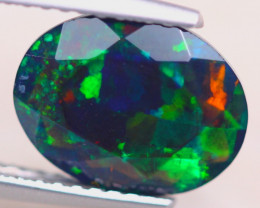 1.64ct Natural Ethiopian Welo Solid Smoked Faceted Opal Lot GW7616