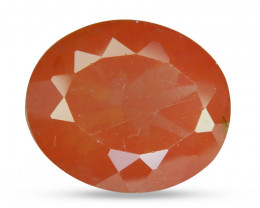 3.31 Cts Natural Greenish Sparkle Red Sunstone Andesine Oval Congo