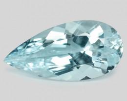 4.10 Cts Un Heated  Sky Blue  Natural Aquamarine Loose Gemstone