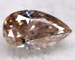 Champagne Pink Diamond 0.13Ct Natural Untreated Fancy Diamond BM0771