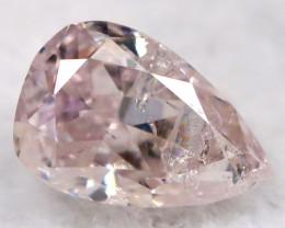 Purplish Pink Diamond 0.12Ct Natural Untreated Fancy Diamond BM0773