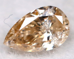Orangy Pink Diamond 3.7mm Natural Untreated Fancy Diamond BM0776