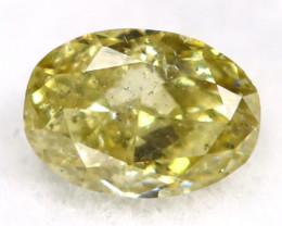 Yellowish Green Diamond 0.17Ct Untreated Genuine Fancy Diamond B2907
