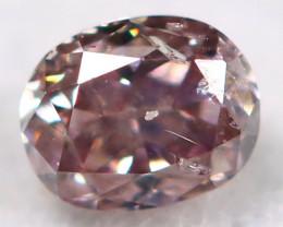 Purple Pink Diamond 3.5mm Natural Untreated Fancy Diamond BM0714