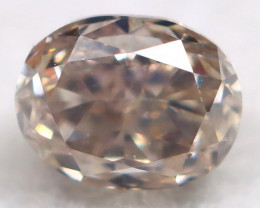 Champagne Pink Diamond 0.14Ct Natural Untreated Fancy Diamond BM0715