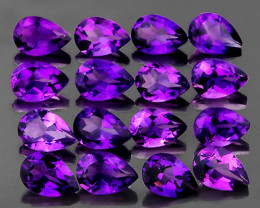 4x3 mm Pear 16 pcs 2.28cts Purple Amethyst [VVS}