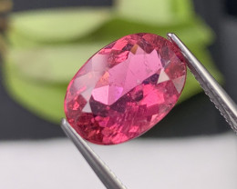 3.73 Cts Pinkish Red Good Quality Natural Rubellite Tourmaline Brazil