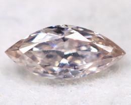 Peach Pink Diamond 4.8mm Natural Untreated Fancy Diamond BM0726