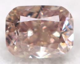 Peach  Pink Diamond  2.7mm Natural Untreated Fancy Diamond BM0737