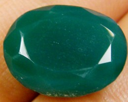 FACETED EYE CLEAN EMERALD COLOUR ONYX STONE 7.50 CTS  ST 230