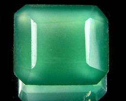 FACETED EYE CLEAN EMERALD COLOUR ONYX STONE  9.30CTS  ST 232