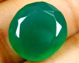 FACETED EYE CLEAN EMERALD COLOUR ONYX STONE8.95  CTS  ST 235