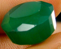 FACETED EYE CLEAN EMERALD COLOUR ONYX STONE  9.90CTS  ST 236