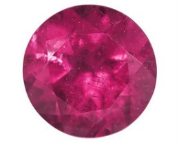 RUBELLITE TOURMALINE .35 CARAT WEIGHT ROUND CUT GEMSTONE NR