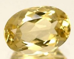 HELIODOR GOLDEN BERYL .65 CARAT WEIGHT OVAL CUT GEMSTONE NR