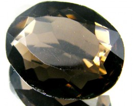 LARGE SMOKEY GREY FACETED TOPAZ 17.10  CTS  ST 537