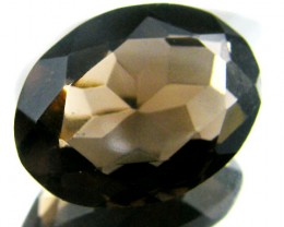 LARGE SMOKEY GREY FACETED TOPAZ  10.45 CTS  ST 558