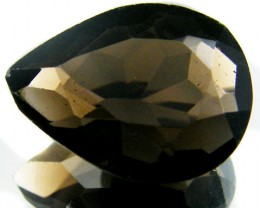 LARGE SMOKEY GREY FACETED TOPAZ  11.40 CTS  ST 560