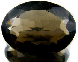 WOW LARGE SMOKEY GREY FACETED TOPAZ 36  CTS  ST 566