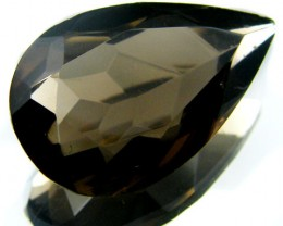 LARGE SMOKEY GREY FACETED TOPAZ 15.95  CTS  ST 573