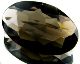 LARGE SMOKEY GREY FACETED TOPAZ 9.20  CTS  ST 574