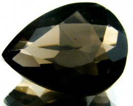 LARGE SMOKEY GREY FACETED TOPAZ 8.10  CTS  ST 576