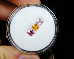 3.5 MM PARCEL SQUARE FANCY   VVS SAPPHIRES  .80CARAT  TW 605