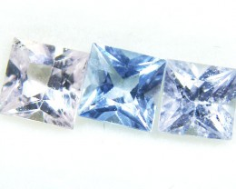 4 MM PARCEL SQUARE FANCY   VVS SAPPHIRES  1.90 CARAT  TW 617