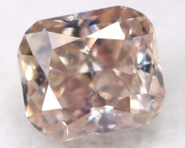 Orangy Pink Diamond 0.10Ct Natural Untreated Fancy Diamond BM0747