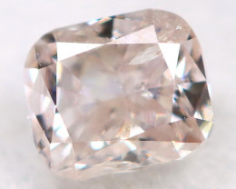 Peach Pink Diamond 0.13Ct Natural Untreated Fancy Diamond BM0748