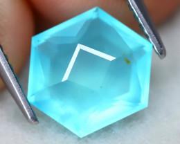 Paraiba Opal 2.15Ct Mastre Cut Natural Peruvian Blue Opal AT0561