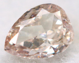 Peach Pink Diamond 3.4mm Natural Untreated Fancy Diamond BM0795