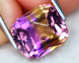Ametrine 4.51Ct VVS Master Cut Natural Bolivian BiColor Ametrine AT0571